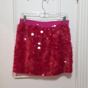 Pink sequins skirt